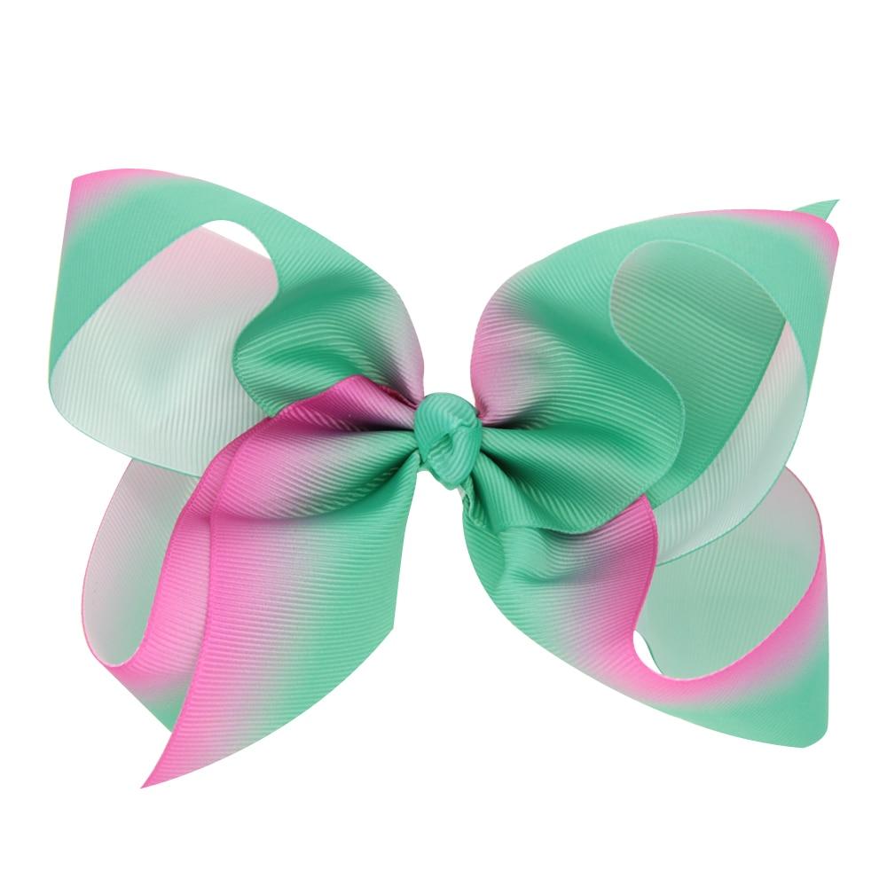 1d62aeaba91db 150pcs DHL Free shipping JoJo Siwa Large Green and Pink Ombre Signature Hair  Bow