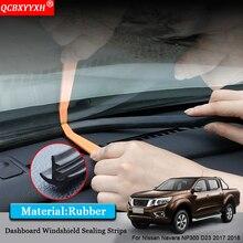 Автомобиль-Стайлинг резиновые анти-Шум Звукоизолированные пыле приборной панели автомобиля Лобовое стекло щеточное для Nissan Navara NP300 D23 2017 2018