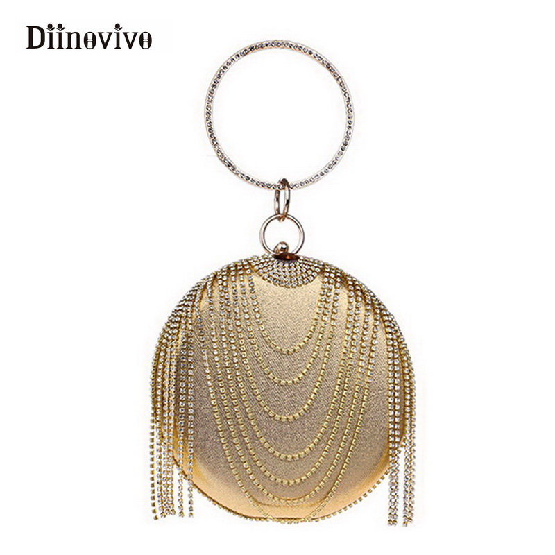 DIINOVIVO New Fashion Luxury Party Bag Women Shoulder Bags Female Evening Handbag Tassel Clutch Purse with Rhinestones WHDV0297 naivety new fashion women tassel clutch purse bag pu leather handbag evening party satchel s61222 drop shipping
