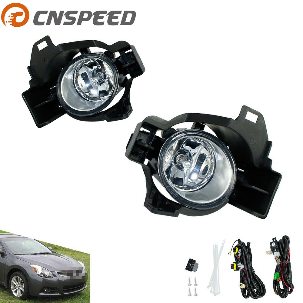CNSPEED Fog light for NISSAN ALTIMA 2010 fog lamps Yellow Clear Lens Bumper Fog Lights Driving Lamps YC100937 1pair clear lens fog lights bumper driving lamps with bulbs for nissan altima sedan 2007 2012
