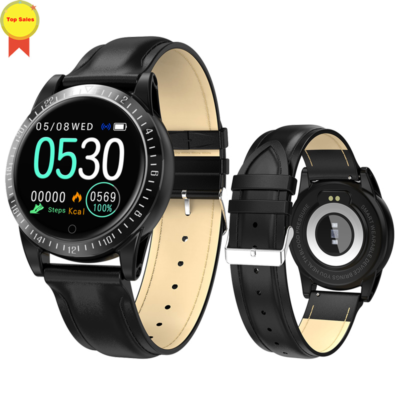 Bracelet intelligent moniteur de pression artérielle fréquence cardiaque montre intelligente Mp3 bracelet intelligent tracker de fitness pour huawei ios PK mi bande 4 - 3