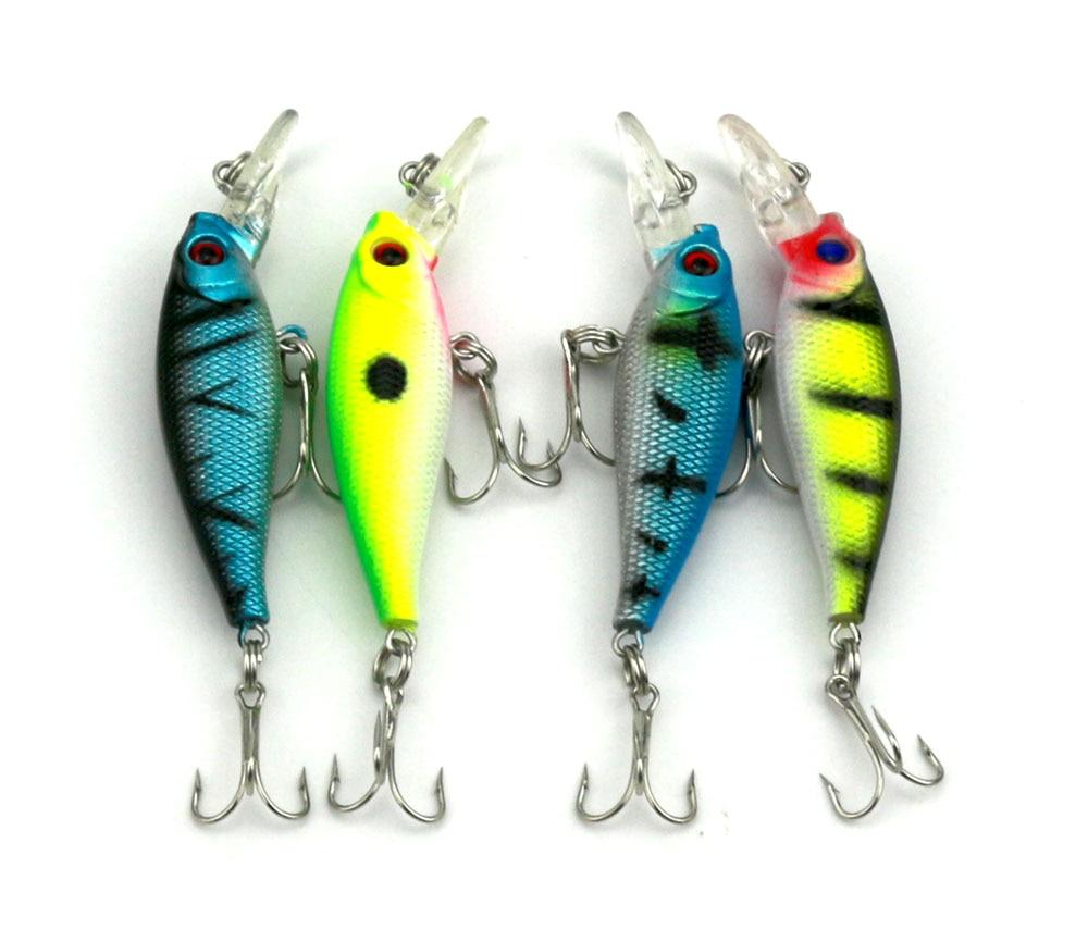 Hot Model 40PCS/Lot 5g 6.5cm Deep Minnow Crankbait Slow Floating Bait for Carp Fishing Tackle Fishing Bass Bait