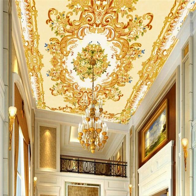 Beibehang steen plafond Europese floor schilderen Custom Waterdicht ...