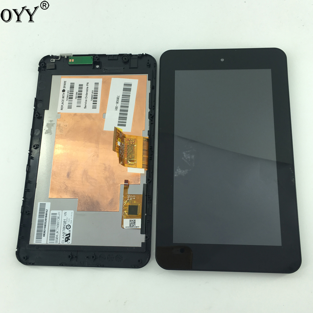 1024 * 600 CLAA070NQ01 XN LCD Display Touch Screen Digitizer with frame Replacement For HP Slate 7 2800 2801 4601 Wifi version lc150x01 sl01 lc150x01 sl 01 lcd display screens