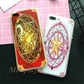 Высокое качество Шелка печати чехлы для iphone 7/7 плюс Мультфильм Cardcaptor Sakura clow карты шаблон мобильный телефон случаях