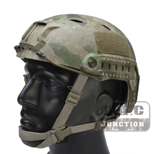 Emerson Tactical Airsoft Fast Helmet Bump Jump BJ Type Advanced Adjustment Combat Lightweight Modular OPS Helmet w/ Side Rail militech fast aor2 bj high cut style vented airsoft tactical helmet ops core style base jump training helmet air soft helmet