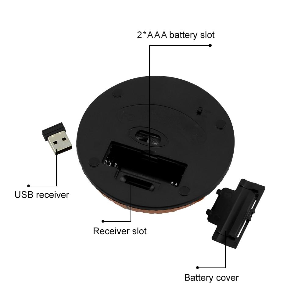 Беспроводная эргономичная игровая мышь в форме баскетбола, 2,4 ГГц, 1200 DPI, USB-5