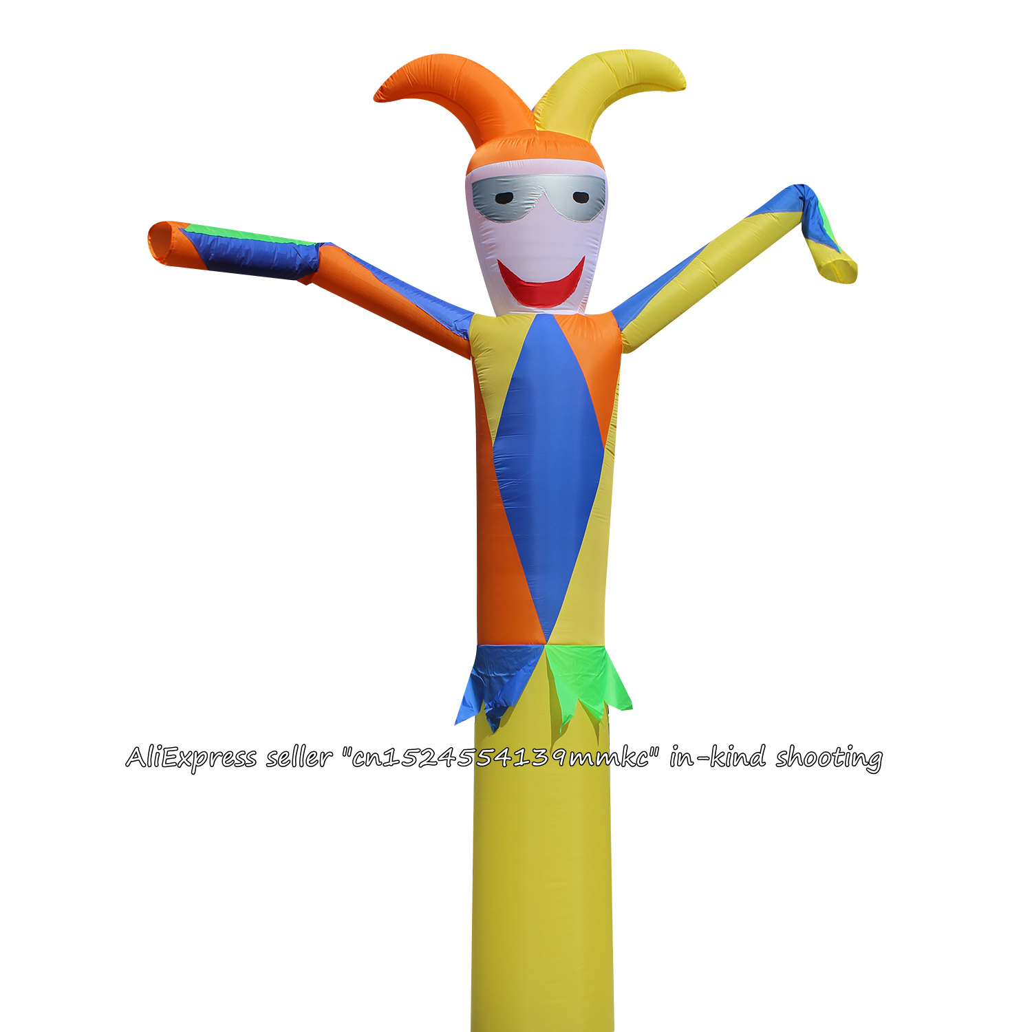 Air Dancer Sky Dancer Inflatable Tube Green Clown Dance Puppet Wind Inflatable Advertising Bouncy For 18'' Blower Yellow Clown