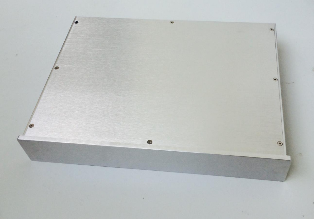 Silver 4307 Full aluminum amplifier chassis / Pre-amplifier / preamp amp / DAC / AMP Enclosure / case / DIY box case size 360 80 268mm bz3608a the new silver aluminum amplifier chassis pre amplifier chassis amp case enclosure box diy