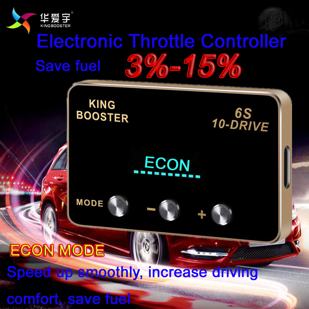 KINGBOOSTER Excited drive Car Electronic Throttle Controller Accelerator For TOYOTA HIGHLANDER ALL ENGINES 2009+