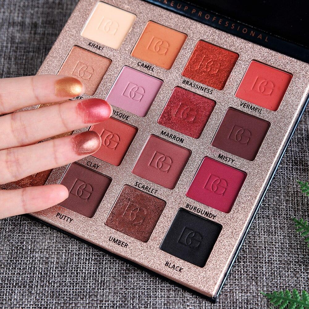 Beauté vitrée charme fard à paupières 16 couleurs naturel mat nacré ombre à paupières Palette maquillage beauté cosmétique poudre TSLM1
