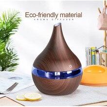KBAYBO 300 мл USB Электрический арома-диффузор воздуха деревянный ультразвуковой увлажнитель воздуха Эфирное масло ароматерапия холодный туман для дома