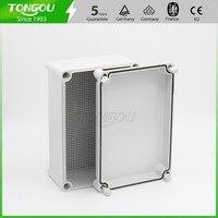 IP67 280 190 130mm Waterproof Junction Box Free Customized Trepanning 3 Holes Plastic Control Panel Box
