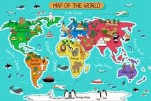Mapa Do Mundo de HUAYI cenário Arte tecido Fotografia Backdrops Retrato Foto Recém-nascidos Fundo XT-4924