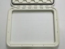 Boat RV Heavy Duty Hinged Access Inspection Deck Hatch White L 21.3 inch W16.7 inch 0551