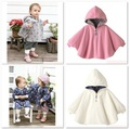Baby Coats Girl's Smocks Outerwear Fleece cloak Jumpers mantle Children's Poncho 1pcs/lot Cape