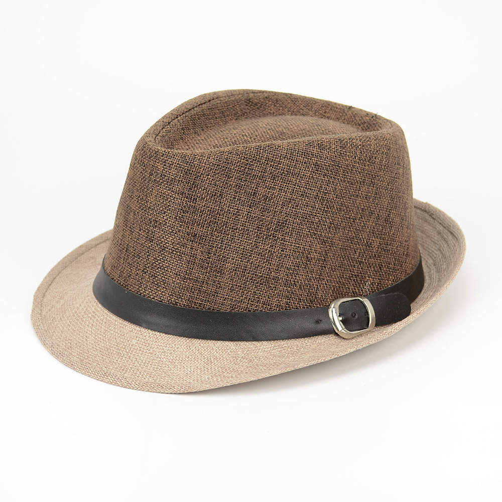 13d5ac48f4e98 Wholesale Linen Panama Hats Women Summer Beach Straw Hat Men Casual Fedora  Hats-in Fedoras from Apparel Accessories on Aliexpress.com