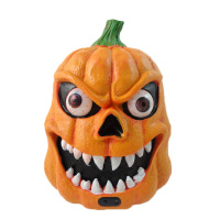 Horrible Pumpkin Zombie Ghosts LED Lights Electric Head Luminous Sound Control Halloween Party Decoration Child Kid