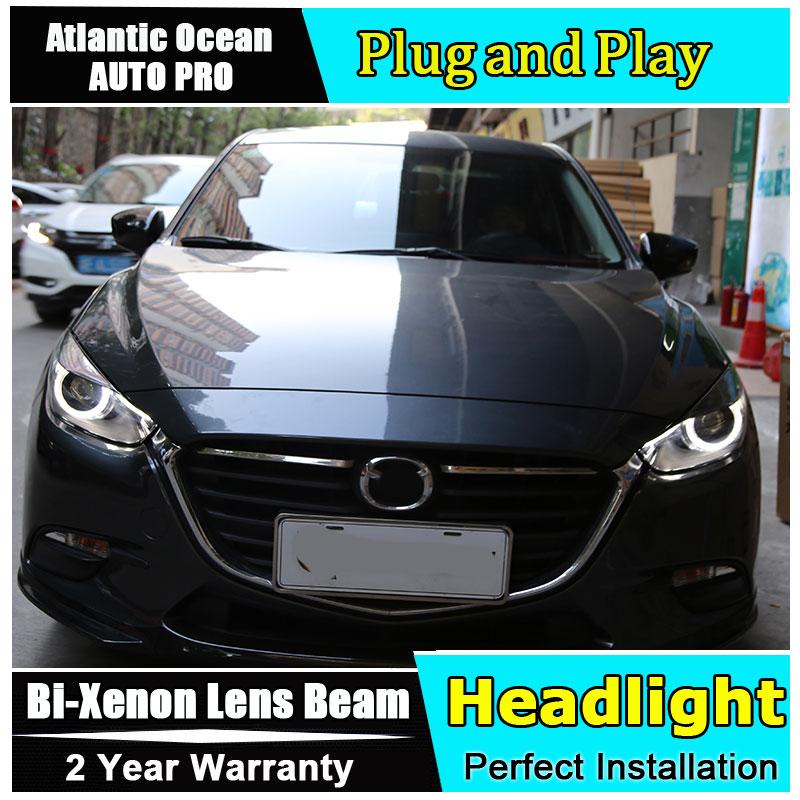 Авто.Про стайлинга автомобилей для Mazda 3 Axela Axela 2017 фары для светодиодные фары линзы двойной Луч H7 Ксеноновые Би Ксеноновые линзы