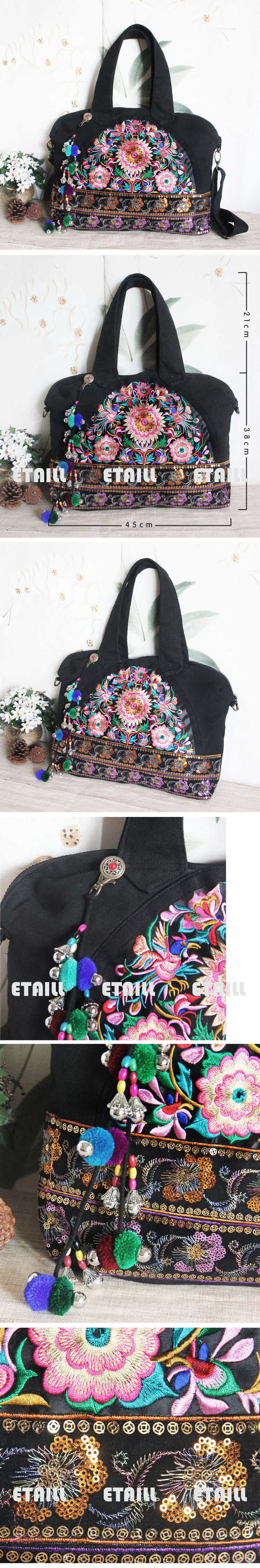 ethnic embroidered bag