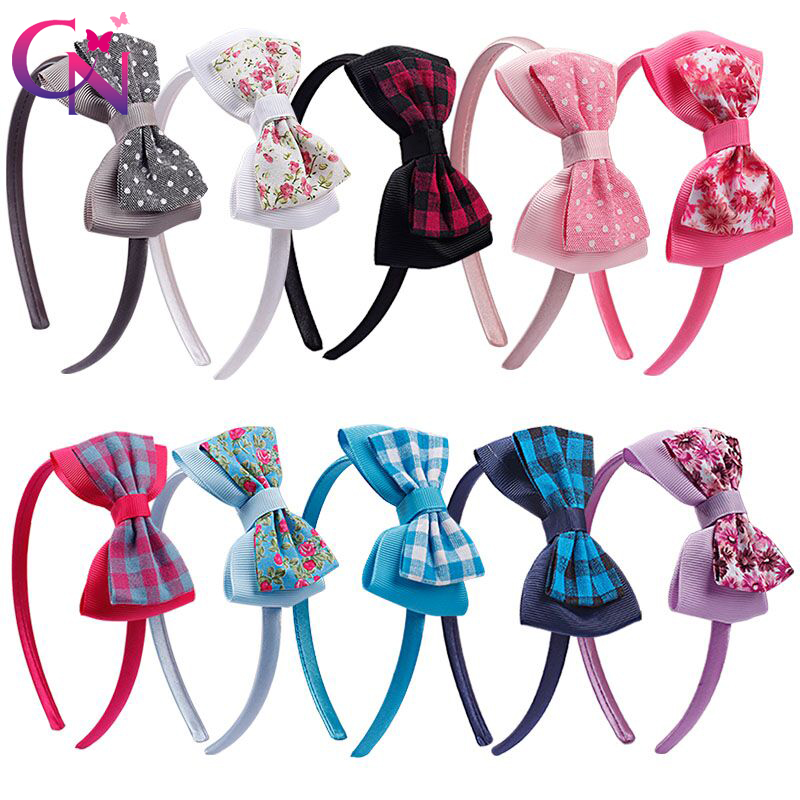 Kids Cute Headband Girls Sequin Bow Hairbands Boutique Satin Tiara Covered Hoop