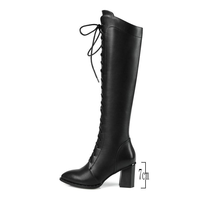Mode D'hiver Brown Chaussures Haute Glissière Croix En Latérale Htxcsqrd 5R3Aj4L