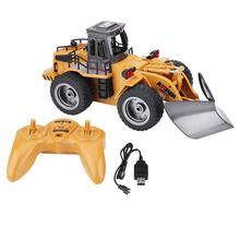 Remote Control Trunk 1:18 2.4G 6CH RC Engineering Truck Remote Control Vehicle Toy with USB Cable