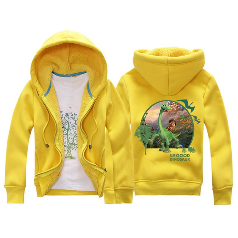 Jiuhehall 3-7 yrs Children Jackets 2016 New Winter Dinosaur Berber Fleece Coats Kids Thicken Warm Hooded Zipper Outwear JCM017 (4)