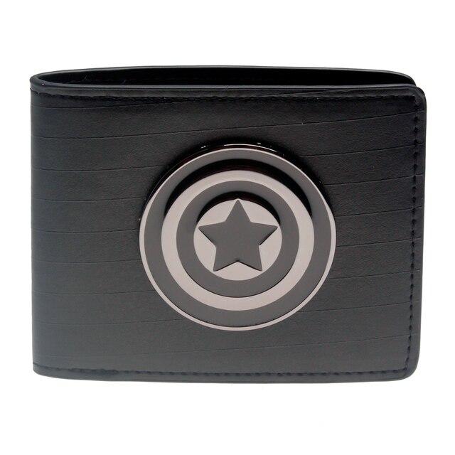 Бумажник Капитан Америка черный с логотипом 1