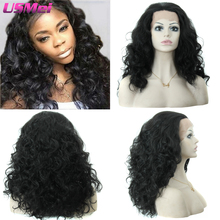 Afro Kinky Curly Lace Front Wigs for Black Women Medium Long Full Water Wave Synthetic Wig that Look Real Quality Cheap Perruque