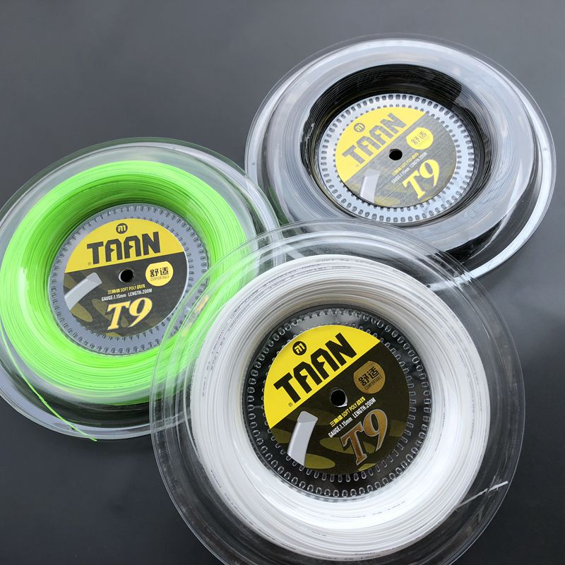 1 Reel TAAN T9 soft poly spin tennis string 1.15mm 200M tennis rackets string comfortable tennis strings1 Reel TAAN T9 soft poly spin tennis string 1.15mm 200M tennis rackets string comfortable tennis strings