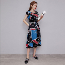 7c248ddd9df 2019 Cotton Linen Summer Dress Women Loose Plus Size Casual Print Dresses  OL Work Wear Vintage