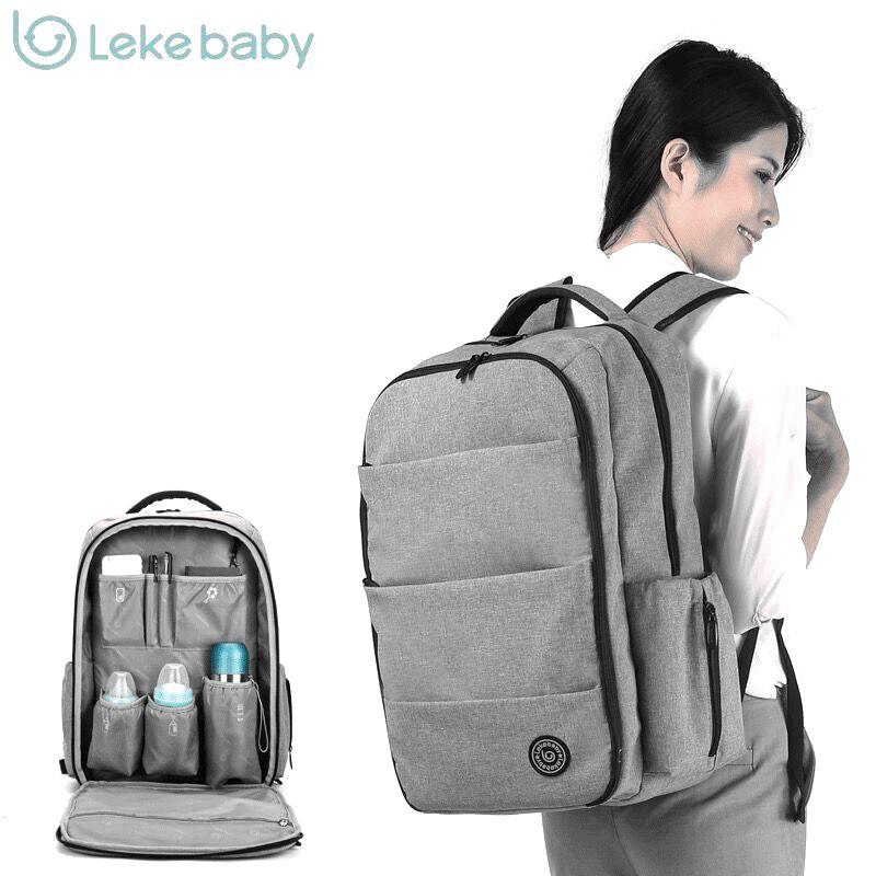 все цены на Lekebaby luiertas baby stroller nappy diaper maternity bag organizer backpack bags for mom mochila maternidade bolso maternal