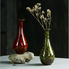 Chinese Style Ceramics Vase  Classic Hydroponics Flower/ Dried Flower Vase Desktop Table Water Planting Vases Home Decor Crafts