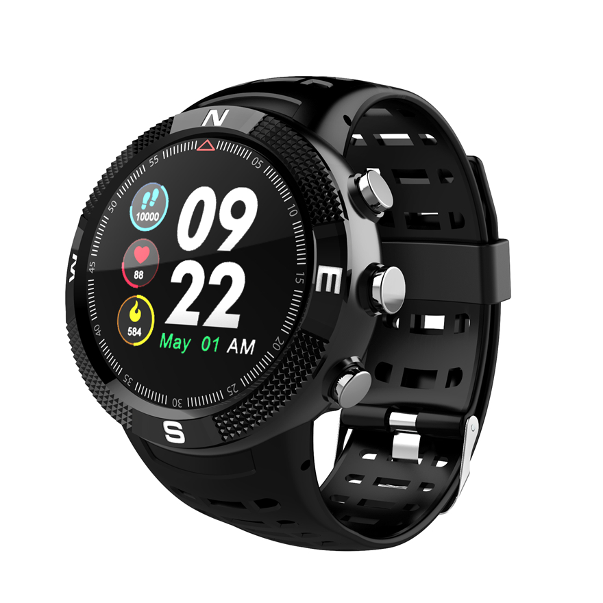 F18 Real Waterproof IP68 GPS Smartwatch Support Swimming Compass Smart bracelet Call Message Reminder Watch Pedometer
