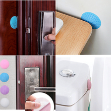 3 pcs Pink Blue Furniture Anti-Collision Rubber Pad Door Handle Table Corner Round Rubber Mat Home Must-have Items