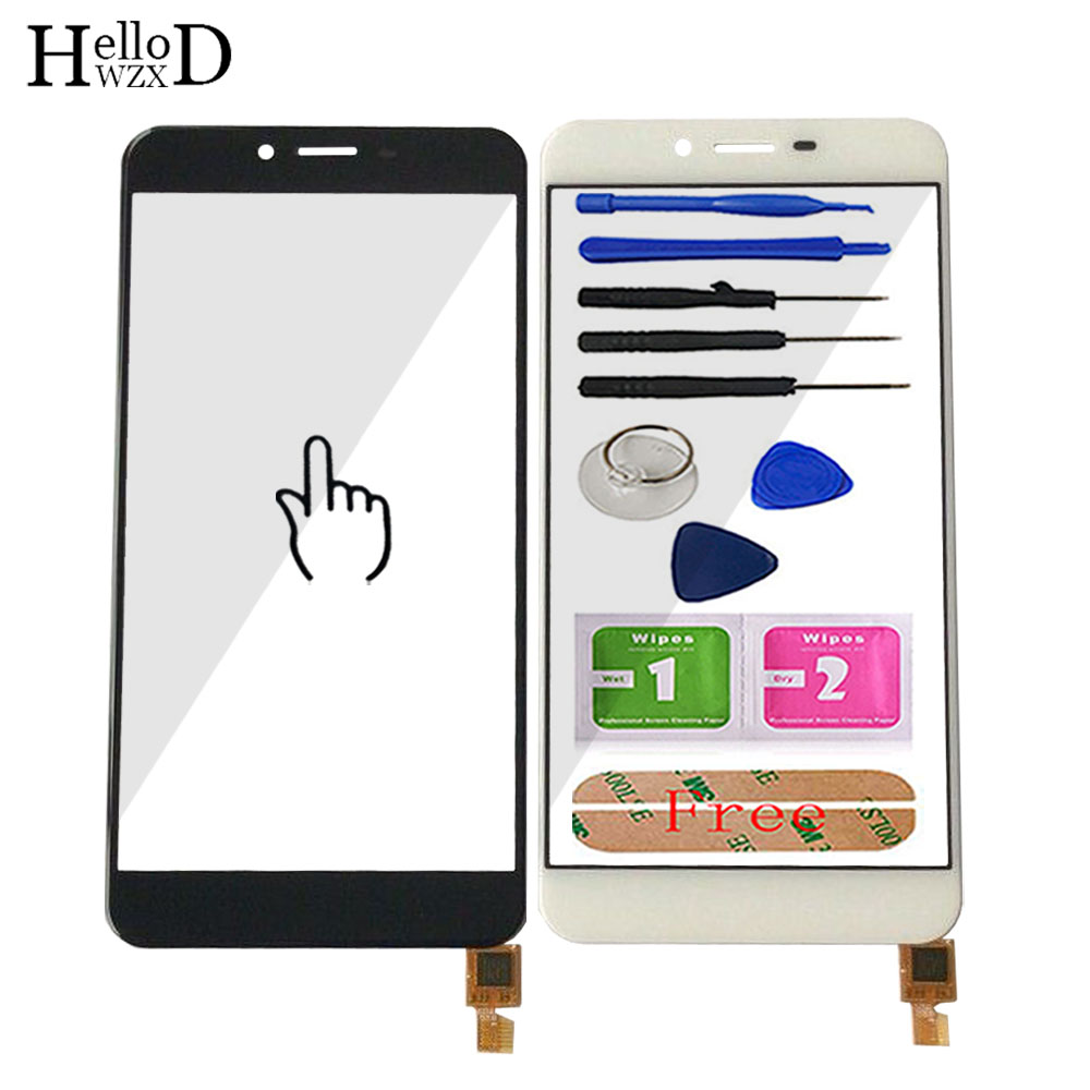 HelloWZXD Mobile Phone Touch Panel For Oukitel U18 Touch Screen Glass Digitizer Panel Lens Sensor Tools Free Adhesive