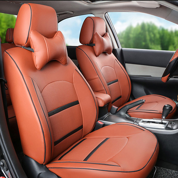 CARTAILOR Auto Seat Protector For Fiat Bravo Car Cover PU Leather Covers Seats