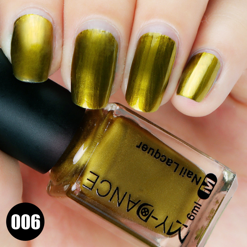Mydance 1 Fles 6 Ml Spiegel Effect Glanzende Nagellak Metallic Nail