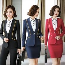IZICFLY новая деловая весенняя одежда для женщин, офисная униформа, Блейзер, Рабочий костюм, стильные официальные костюмы для женщин, юбка, большой размер 4XL
