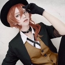 cosplay set) clothing(trench+top+vest+tie+pants+Leather Japanese