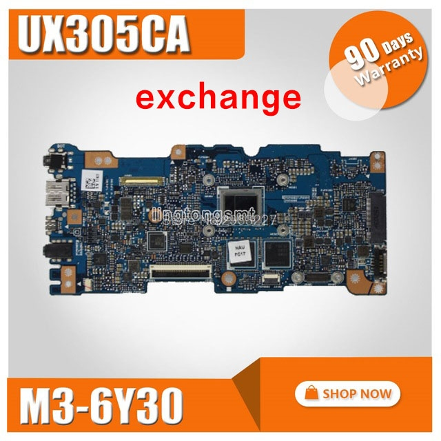 Exchange UX305CA Laptop motherboard For ASUS UX305C U305C U305CA Mainboard 100 tested with processor M3 6Y30