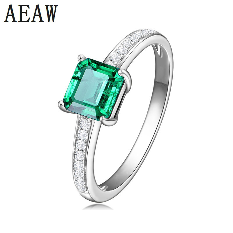 3.0Carat Asscher Shape Colombian Lab Created Emerald Engagement Ring Solid 14K White Gold Setting with Moissanite Fine Ring3.0Carat Asscher Shape Colombian Lab Created Emerald Engagement Ring Solid 14K White Gold Setting with Moissanite Fine Ring