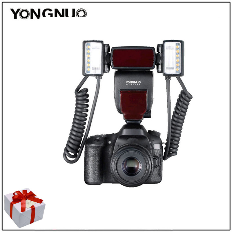 Yongnuo YN-24EX yn24ex macro flash speedlite macro twin lite ttl flash close-up fotografia para canon 5 diii 5dii 5d 6d