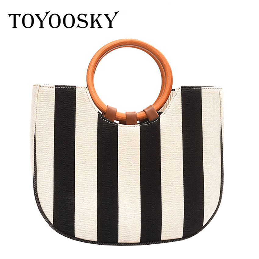 TOYOOSKY Beach bag straw totes bag bucket summer bags women handbag braided 2017 new arrivals spring and summer high quality beach straw bags women appliques beach bag snakeskin handbags summer 2017 vintage python pattern crossbody bag