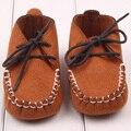 Zapatos de bebé suaves recién nacido niño niña zapatos del pesebre del niño ata para arriba del holgazán Pre zapatos del caminante