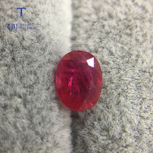 TBJ,Natural treated ruby oval shape red ruby 1.3ct ,loose precious gemstone for gold jewelry mounting ,free certificate