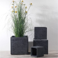 Cement Flower Pot Succulent Plant Pot Square Handmade Nordic Style Indoor Simple Planter Art Bonsai Living Room Balcony Decor