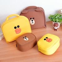 Cute Beer Cosmetic Bag Cartoon Bear Girl S Mini Pouch Travel Wash Makeup Tools Organizer Case