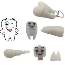 Фотография Pen Drive Gift Teeth Cute Model 8GB/16GB/32GB/64GB Usb Flash Drive, Tooth Flash Memory Stick Pendrive Dentist U Disk